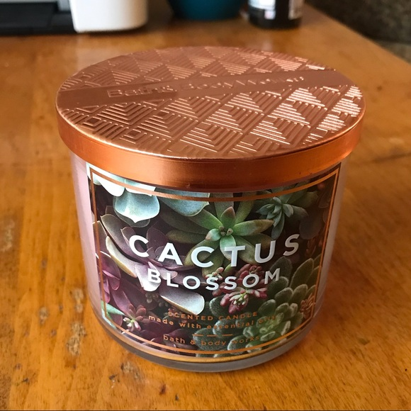 BBW Cactus Blossom 3-Wick Candle